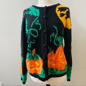 ALEXANDRA BARTLETT vintage knit Halloween sweater